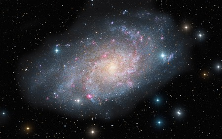 Astronomical image of M33, the spiral galaxy in the constellation Triangulum