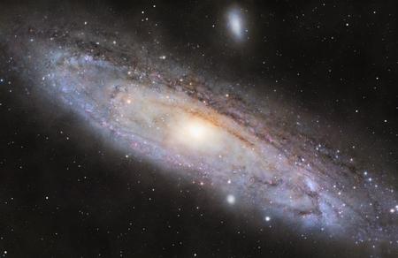 Une photo de M31, la galaxie spirale dans la constellation d'Andromède Banque d'images