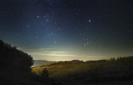 A picture of the fading stars of Milky Way before the dawn