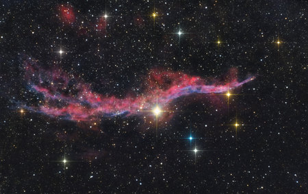 A picture of the supernova , also called the Witch's Broom Nebula
