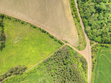 Aerial picture of the countryside scenery Banque d'images