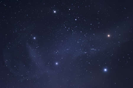 Bright shining stars of the constellation Auriga Banque d'images