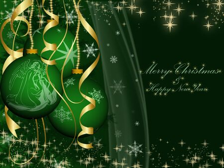 christmas card, New Year card