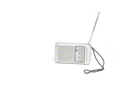 transistor: Vintage  Transistor Radio Isolated on White Background Foto de archivo