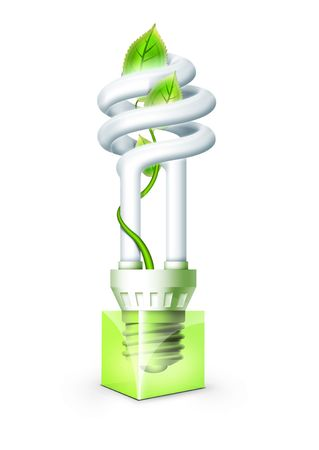 Luminous tube with plant