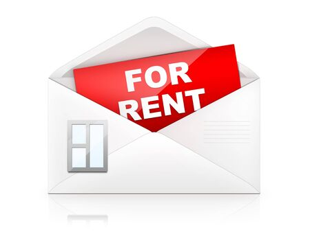 rent: Envelope � House Stock Photo