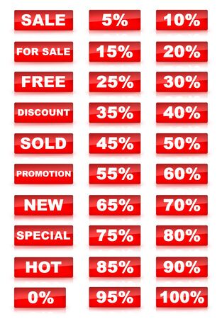 Red Sale Set  photo