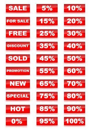 Red Verkauf-Set  Standard-Bild - 4924614