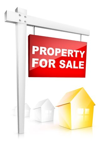 property: Property For Sale - Real Estate Tablet Stock Photo