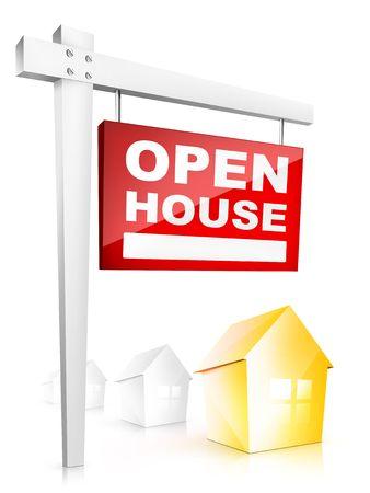 open huis: Open huis - tablet van onroerend goed