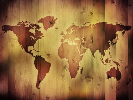 Map of the World Banque d'images