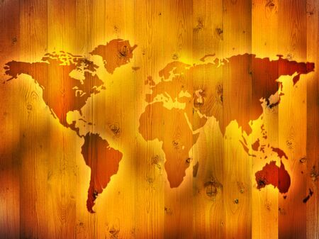 Map of the World Banco de Imagens