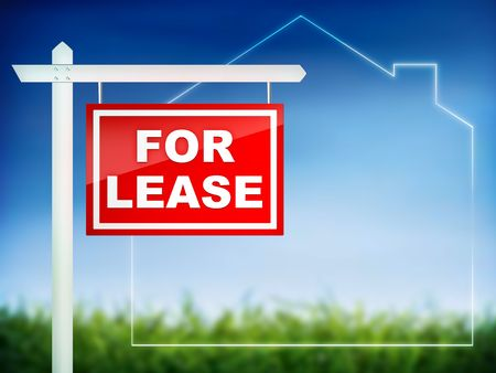 For Lease - Real Estate Tablet Stock Photo