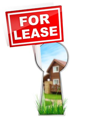 lease: For Lease - Real Estate Tablet Stock Photo