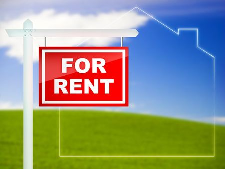 property development: For Rent - Real Estate Tablet