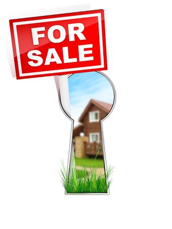For Sale - Real Estate Tablet Stock Photo