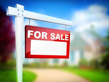 commercial real estate: - Venta de Bienes Ra�ces de Tablet Foto de archivo