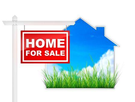 home for sale: Home In Vendita - Real Estate Tablet Archivio Fotografico