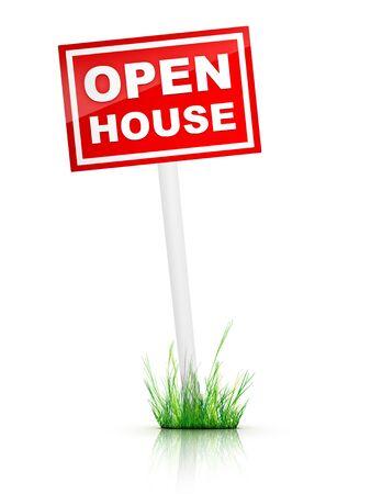 open huis: Open Huis Tablet Stockfoto