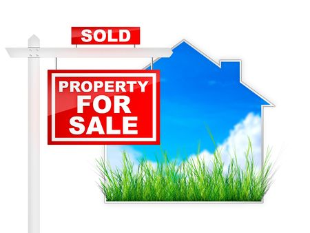property: Property For Sale - Sold Tablet Stock Photo