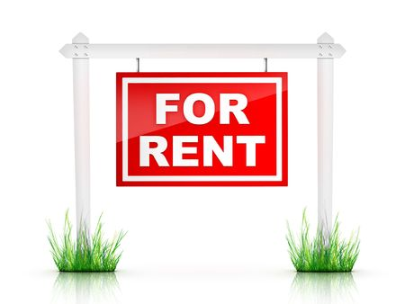 Real Estate Sign - For Rent photo