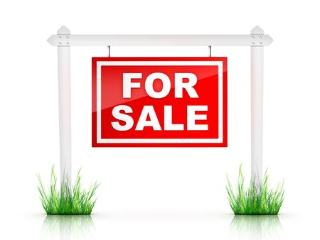 sales agent: Real Estate Sign - For Sale