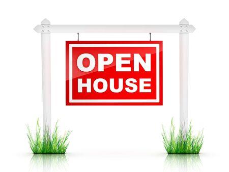 open huis: Onroerend goed teken - Open huis