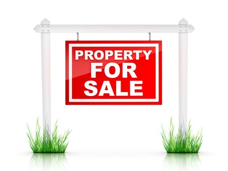 property: Real Estate Sign - Property For Sale