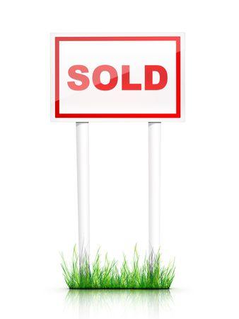 Artwork For Real Estate  - Sign Sold photo