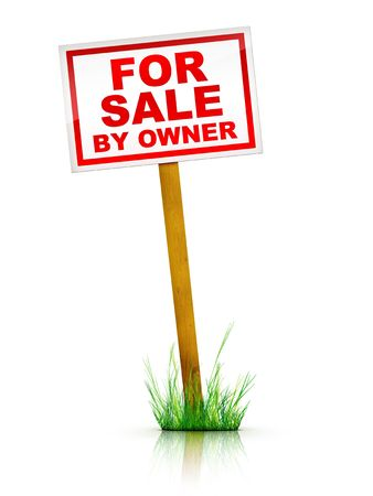 Artwork For Real Estate  - Sign For Sale by Owner photo