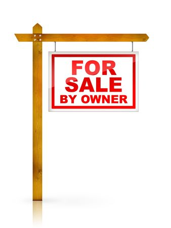 Artwork For Real Estate  - Sign For Sale by Owner Stock Photo - 5149255