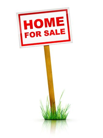 Artwork For Real Estate  - Sign Home For Sale Stock Photo - 5149247