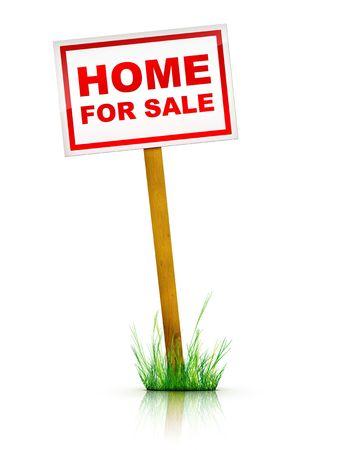 commercial real estate: Obras de arte para Real Estate - Home For Sale Sign