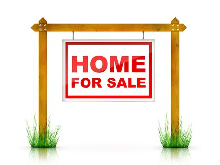 Artwork For Real Estate  - Sign Home For Sale Stock Photo - 5149297