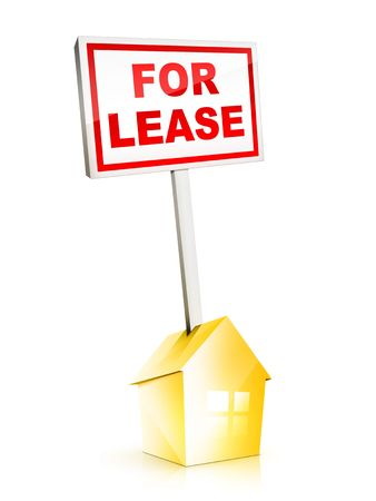 Real Estate Sign - For Lease photo