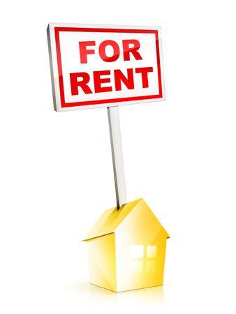 rental: Real Estate Sign - For Rent