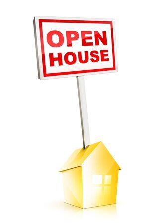 open huis: Real Estate Sign - Open Huis