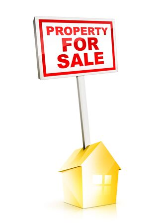 Real Estate Sign – Property For Sale Stock Photo - 5149288