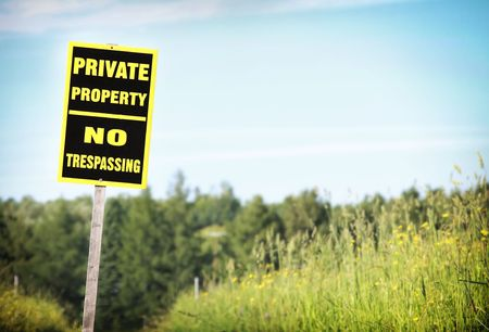 property: Sign Private Property Stock Photo