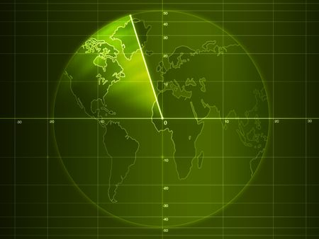Pantalla de radar con detalles