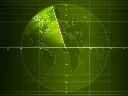 Radar screen with details photo