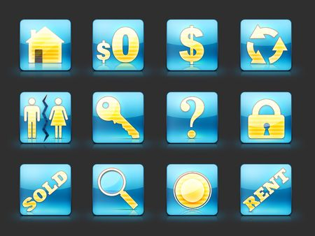 Icon Set For Real Estate Business Stock Photo - 5277243
