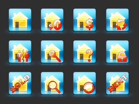 sold small: Icon Set For Real Estate Business