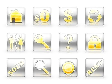 Icon Set For Real Estate Business Stock Photo - 5291582