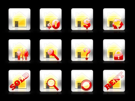 Icon Set For Real Estate Business Stock Photo - 5291583