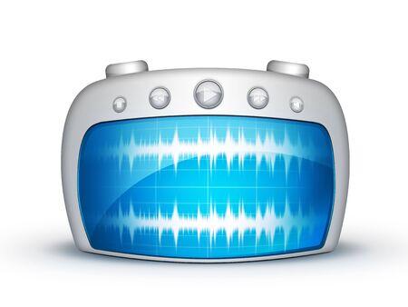Radio on the white background 版權商用圖片