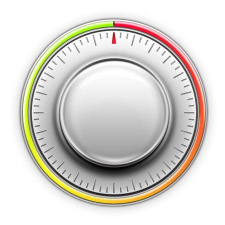 Thermostaat op de witte achtergrond. 2D illustraties. Computer-Designe