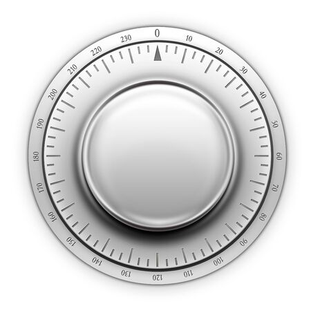 designe: Thermostat on the white background. 2D artwork. Computer Designe