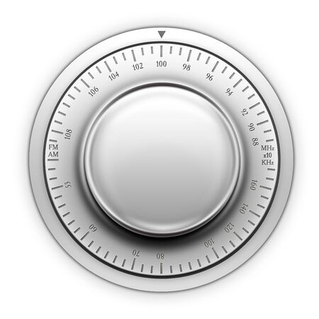 Radio Tuner on the white background. 2D artwork. Computer Designe Stock Photo - 5766311