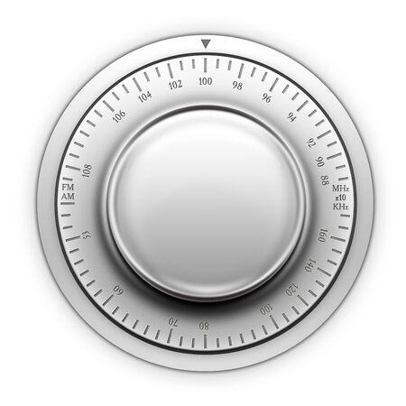 designe: Radio Tuner on the white background. 2D artwork. Computer Designe